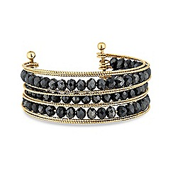 Lipsy - Faceted beaded cuff bracelet