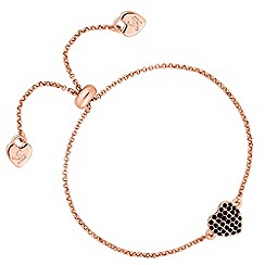 Lipsy - Crystal pave heart toggle bracelet