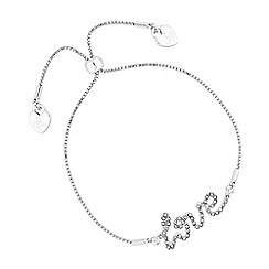 Lipsy - Crystal love toggle bracelet