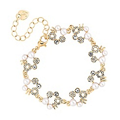 Lipsy - Pearl and crystal hoop bracelet