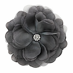 Mood - Layered grey crystal floral corsage