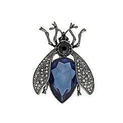 Mood - Crystal embellished bug brooch