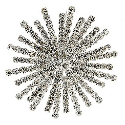 Mood - Crystal embellished starburst brooch
