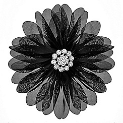 Mood - Black fabric floral corsage