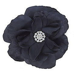 Mood - Layered black floral corsage