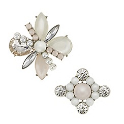 Mood - Crystal and pearl brooch pack