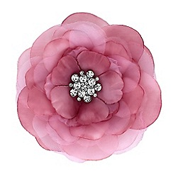 Mood - Pink floral crystal brooch