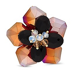 Mood - Floral beaded brooch