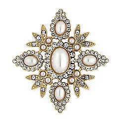Mood - Gold pearl cluster brooch