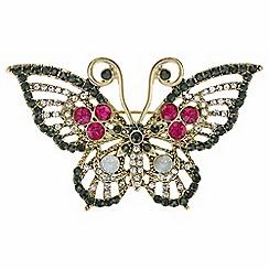 Mood - Crystal butterfly brooch
