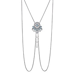 Mood - Ornate crystal central body chain necklace