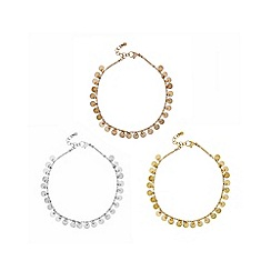 Mood - Multi tone anklet set