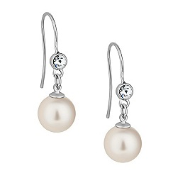 Mood - Cream pearl and crystal drop earring