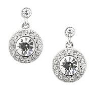Mini round crystal clara stone drop earring