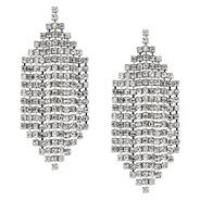 Diamante crystal chandelier earring