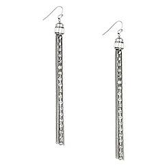 Mood - Crystal chain tassel earring