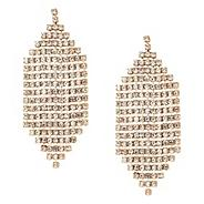 Diamante crystal cascade drop earring