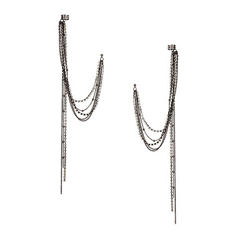Mood - Statement crystal and chain ear cuffs