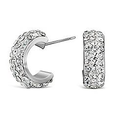 Mood - Pave crystal half hoop earring