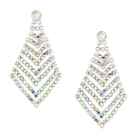 Mood - Aurora borealis crystal chevron effect earring