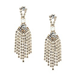 Mood - Statement diamante crystal shower drop earring