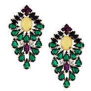 Statement jewelled chandelier drop earring