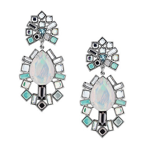 Mood - Statement opalesque baguette drop earring