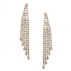 Mood - Diamante crystal gold tassel drop earring