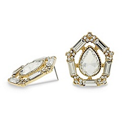 Mood - Peardrop and baguette stone surround earring