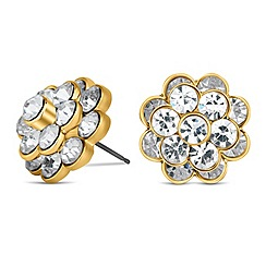 Mood - Triple layered crystal flower stud earring