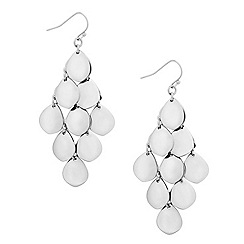 Mood - Polished silver teardrop chandelier earring