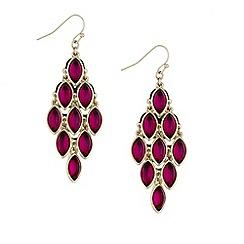 Mood - Fuchsia pink teardrop chandelier earring