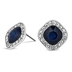 Mood - Blue square surround stud earring