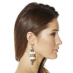 Mood - Textured gold and shell effect chandelier earring