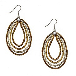 Mood - Metallic bugle bead drop earring