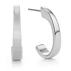 Mood - Silver curved hoop earring