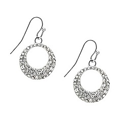 Mood - Crystal embellished round drop earring