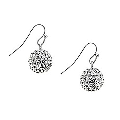Mood - Crystal embellished ball drop earring