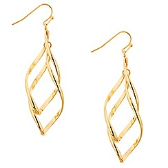 Mood - Polished gold twist drop earring