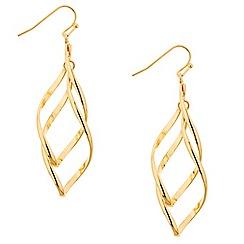 Mood - Polished gold twist drop earring