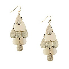 Mood - Polished and textured chandelier drop earring