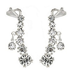 Mood - Set of two symmetrical crystal ear cuffs with droplet
