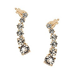 Mood - Set of two symmetrical crystal ear cuffs