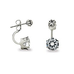 Mood - Double diamante crystal ear lobe earring