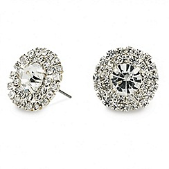 Mood - Diamante surround round stud earring
