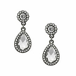 Mood - Crystal surround teardrop earring