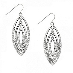 Mood - Crystal encased triple navette drop earring