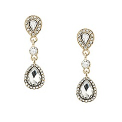 Mood - Crystal surround tear droplet earring