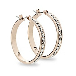 Mood - Crystal encased rose gold panelled hoop earring