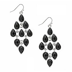 Mood - Jet teardrop chandelier earring